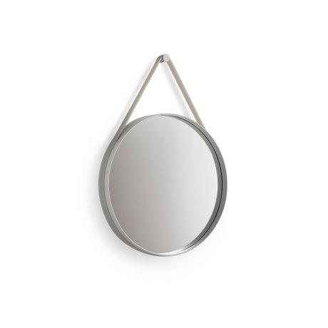 HAY Spiegel Strap lichtgrijs staal Ø50cm