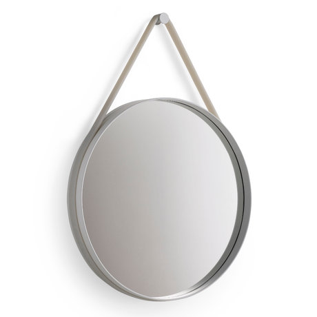 HAY Spiegel Strap lichtgrijs staal Ø70cm