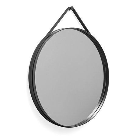 HAY Spiegel Strap donkergrijs staal Ø70cm