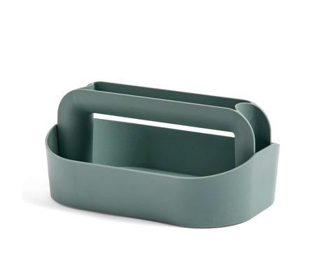 HAY Opbergkist Tool Box groen plastic 30,5x21x14,5cm
