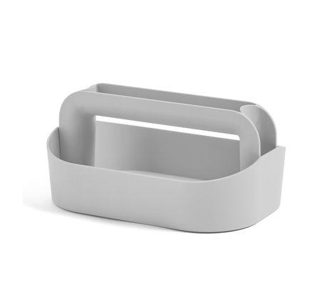 HAY Opbergkist Tool Box grijs plastic 30,5x21x14,5cm