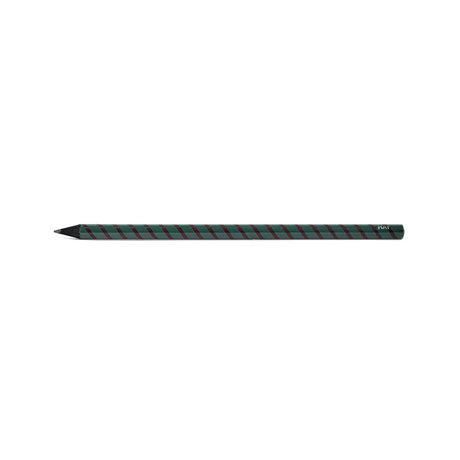 HAY Potlood Swirl groen hout grafiet ¯0,8x18cm