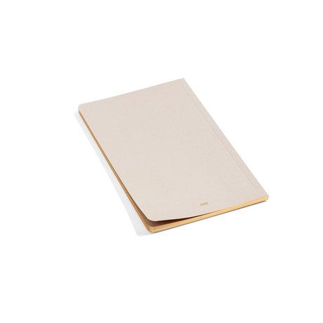 HAY Notitieboekje Edge beige papier 12,5x19,5cm