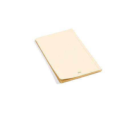 HAY Notitieboekje Edge lichtgeel papier 12,5x19,5cm