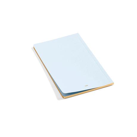 HAY Notitieboekje Edge lichtblauw papier 12,5x19,5cm