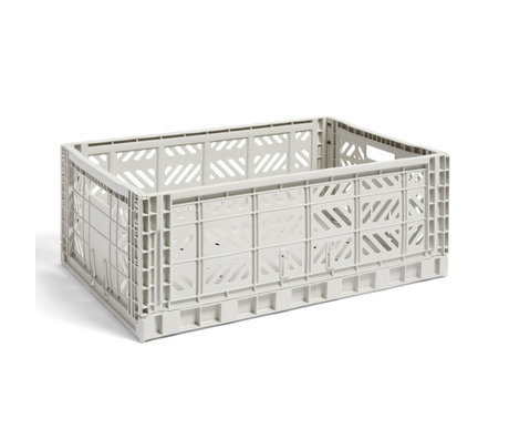 HAY Krat Colour Crate L lichtgrijs kunststof 60x40x22cm