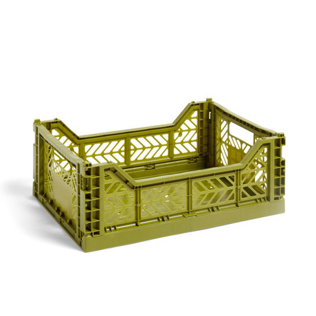 HAY Krat Colour Crate M olijfgroen kunststof 40x30x14,5cm
