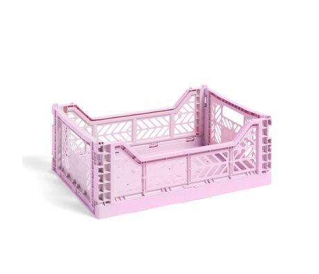 HAY Krat Colour Crate M lila kunststof 40x30x14,5cm