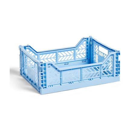HAY Krat Colour Crate M lichtblauw kunststof 40x30x14,5cm
