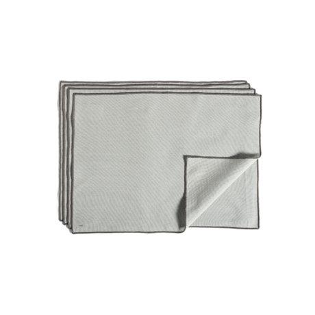 HAY Placemat Contour grijs katoen set van 4 46x34cm