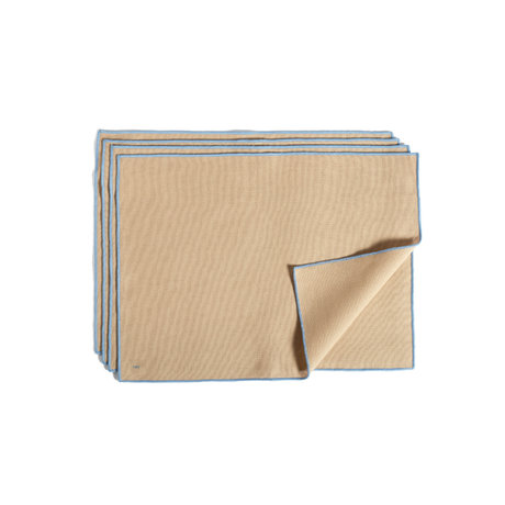 HAY Placemat Contour beige katoen set van 4 46x34cm