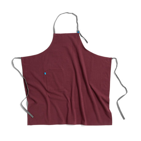 HAY Schort Wrap bordeauxrood textiel 98x98cm