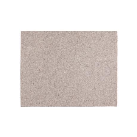 HAY Placemat Sand lichtbruin wol 45x35cm