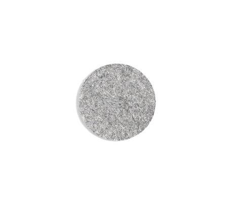 HAY Onderzetter Coaster grijs wol Ø10cm
