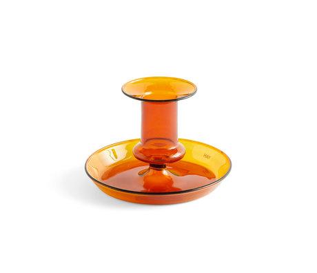 HAY Kandelaar Flare terracotta glas ¯11x7,5cm