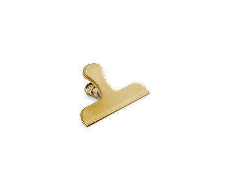 HAY Klem Clip Clip goud staal 7,5x6cm