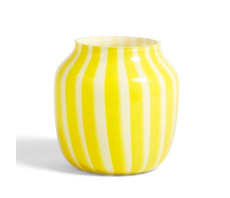 HAY Vaas Juice geel glas ¯22x22cm