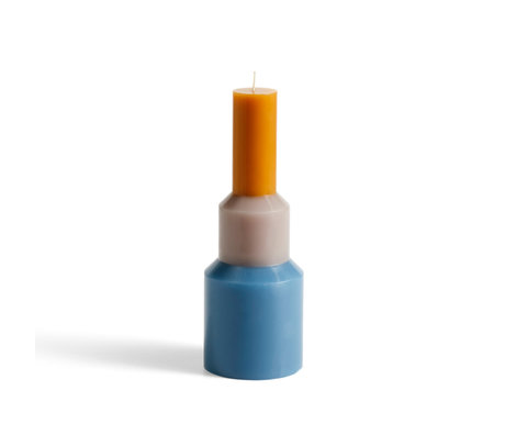 HAY Kaars Pillar blauw wax 9x25cm