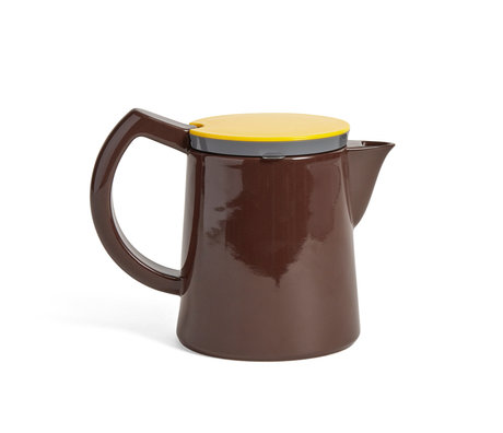 HAY Koffiekan Coffee M 0.8L bruin porselein 20x12,5x16cm