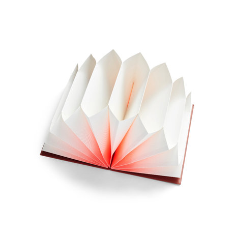 HAY Map PlissŽ roze papier 35x23cm