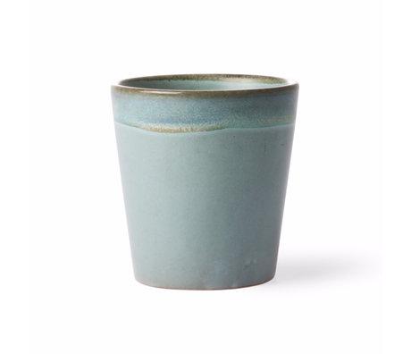 HK-living Becher Moss Stil der 70er Jahre mehrfarbige Keramik 7,5x7,5x8cm