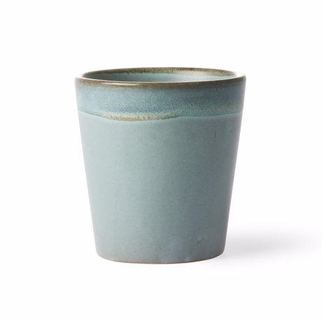 HK-living Mug Moss 70's style multicolour ceramic 7,5x7,5x8cm