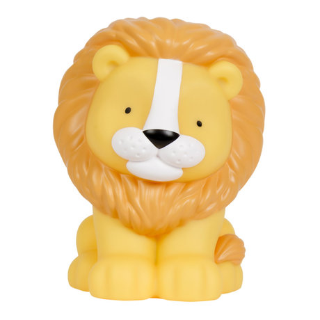 A Little Lovely Company Table lamp Lion yellow orange bpa and phthalate free PVC 14x13x18cm