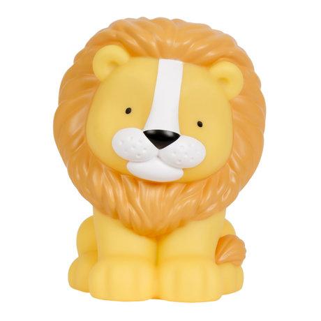 A Little Lovely Company Tafellamp Lion geel oranje bpa en ftalaat vrij pvc 14x13x18cm