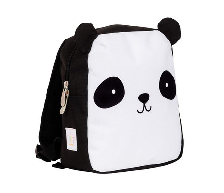 A Little Lovely Company Backpack Panda black white polyester 21x10x26cm