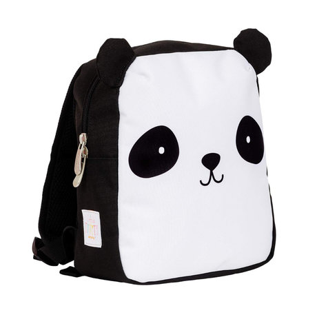 A Little Lovely Company Rucksack Panda schwarz weiß Polyester 21x10x26cm