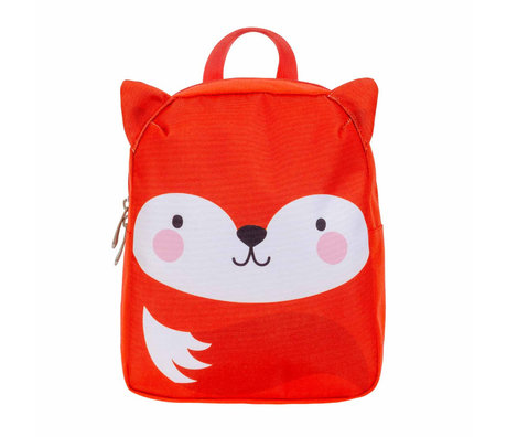 A Little Lovely Company Sac à dos Fox orange blanc polyester 21x10x26cm
