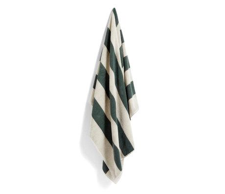 HAY Badhanddoek FrottŽ Stripe groen katoen 150x100cm