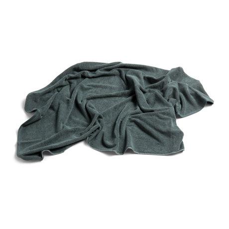 HAY Badhanddoek Frotté groen katoen 150x100cm