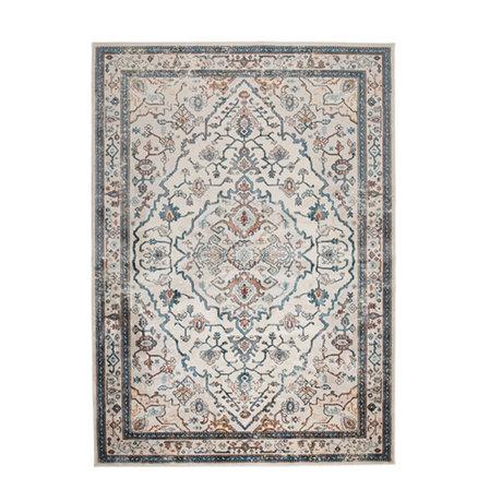 Zuiver Teppich Trijntje Authentic Blue mehrfarbiges Textil 170x240cm