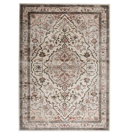Zuiver Vloerkleed Trijntje Rose Olive multicolour textiel 200x300cm