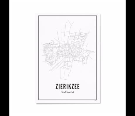 Wijck Poster Zierikzee zwart wit papier 21x30cm