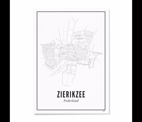 Wijck Poster Zierikzee zwart wit papier 50x70cm