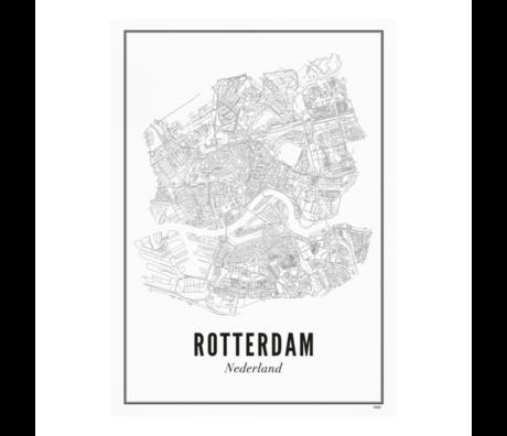 Wijck Poster Rotterdam zwart wit papier 50x70cm