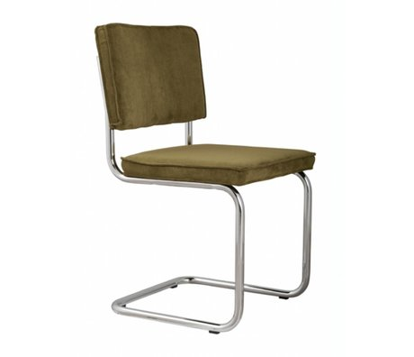 Zuiver Dining chair green knit 48x48x85cm, CHAIR GREEN RIDGE RIB 25A