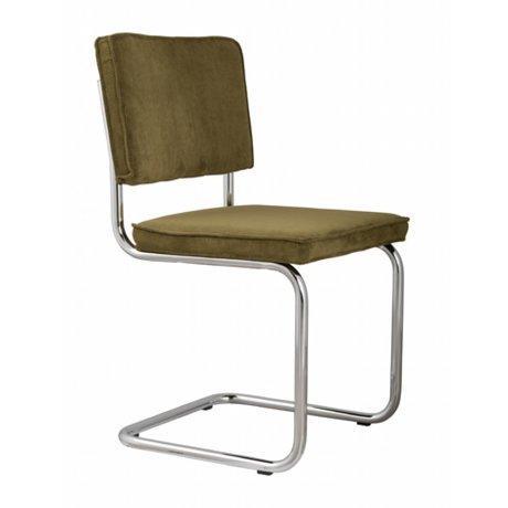 Zuiver Salle chaise verte 48x48x85cm tricot, chaise verte RIDGE RIB 25A