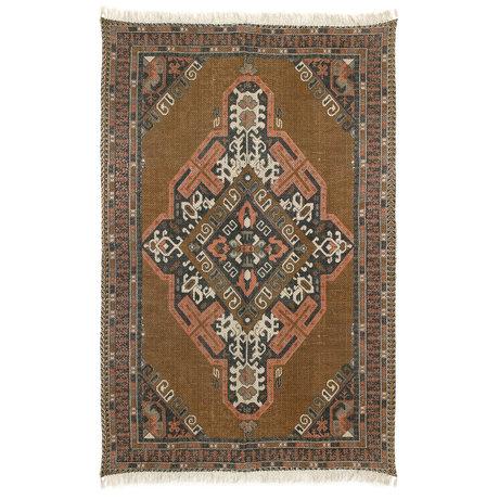 HK-living Teppich Stonewashed mehrfarbige Baumwolljute 180x280cm