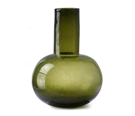 HK-living Vaas L groen glas ¯31x43cm
