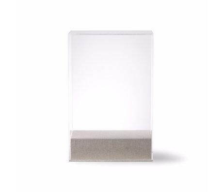 HK-living Présentoir dôme en verre verre transparent 20x12x30cm