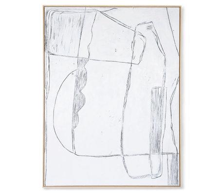 HK-living Kunstlijst Brutalism wit canvas 123x4x163cm