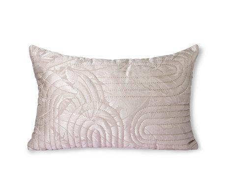 HK-living Sierkussen Quilted lichtroze textiel 40x60cm