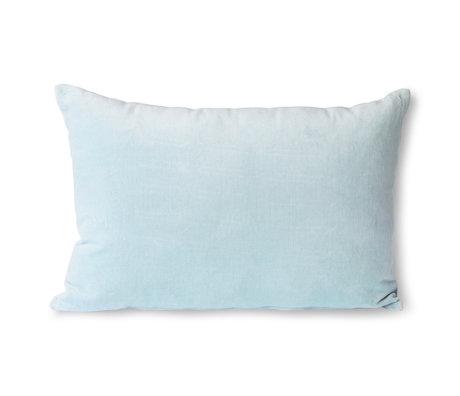 HK-living Sierkussen Velvet ijsblauw textiel 40x60cm