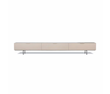 HK-living TV meubel Wood Grain beige hout 250x30x36cm