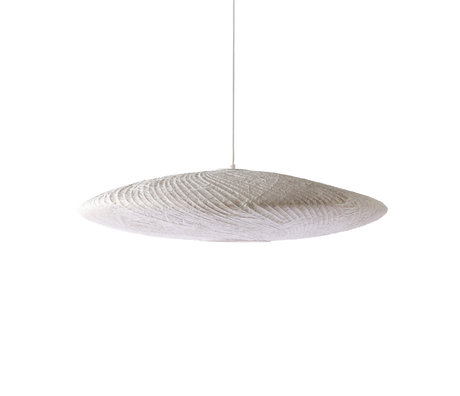 HK-living Hanglamp Ufo wit bamboe papier ¯82x21cm