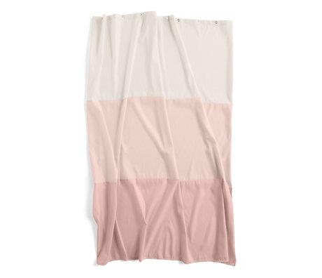 HAY Douchegordijn Aquarelle Horizontal roze polyester 200x180cm