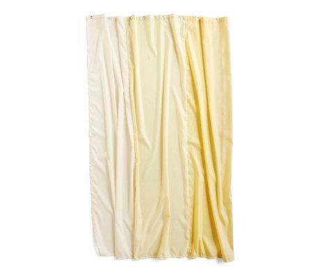 HAY Douchegordijn Aquarelle Vertical geel polyester 200x180cm